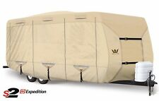 S2 Expedition Premium Travel Trailer RV Cover - Fits 31' - 32' Length- TAN