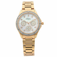 Rotary Swarovski Accent Rose Gold Tone MOP Dial Quartz Womens Watch LB00069/41