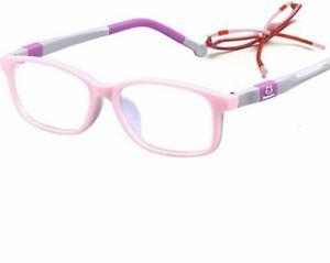 Kids Optical Eye Wear Glasses Frames Cartoon Pattern Plastic Titanium Eyeglasses