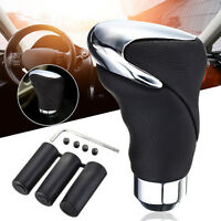 Universal Car Auto Leather Shift Knob Manual Gear Head Stick Shifter Adapter CA