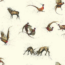 Pheasants and Stags Wallpaper The Hunt Designed by Clare Brownlow W10MHUNT01