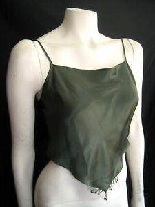 VICTORIA'S SECRET Vintage Satin Beaded Camisole Halter , Cami Top , Lingerie NWT