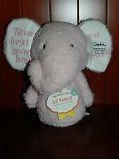 Hallmark Pink Elephant Lil Peanut Personalize Rosebud Plush Rattle Baby Toy Dots