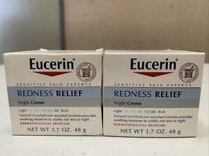 2-Pack Eucerin Redness Relief Night Cream - 1.7 oz / 48g - Fast Free Shipping!