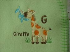 "Garanimals Giraffe Baby Blanket Green 30"" X 40"" Lovey"