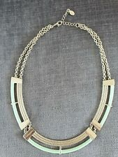 Accessorize Green And Silver Adjustable Statement Necklace