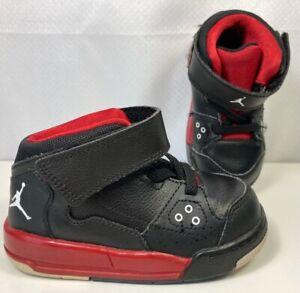 Air Jordan Toddler Boys Flight Origin BT Sneaker Shoes Black Red 602670-001 6C