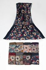 WHOLESALE  10 PCS FLORAL PRINT SCARVES SCARFS WRAPS JOBLOT