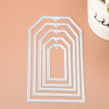 5Pc Rectangle Metal Cutting Dies Stencils Set DIY Scrapbooking Paper Craft Decor