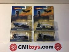 Batman Hot wheels Diecast Batmobile Batcopter Batcycle Begins Movie Figure Set