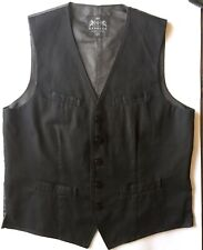 Express Men's Vest Waistcoat Casual Black Cotton M