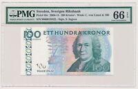SWEDEN banknote 100 Kronor 2009 PMG MS 66 EPQ Gem Uncirculated grade