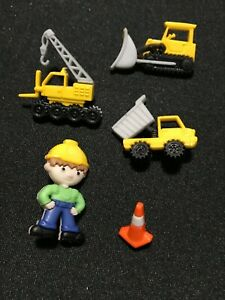 Work Zone Plastic Novelty Buttons/Sewing supplies/DIY craft supplies/Dress it Up