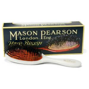 Mason Pearson B4 Pocket Size Boar Bristle Hairbrush – Ivory - Made in England