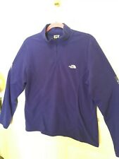 The North Face Ladies Xl Cobalt Blue Pullover Partial Zip Pullover Fleece Soft