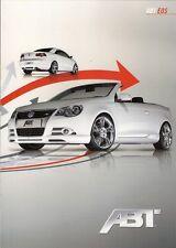 Volkswagen Eos ABT Tuning 2009 German Market Foldout Sales Brochure
