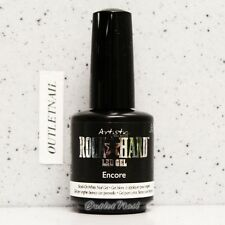 Artistic Nail Design Rock Hard LED Gel - ENCORE #02204 Brush-On White Nail Gel