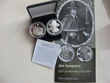 SLOWAKEI 2016 10 EURO SILBER MÜNZE COIN PP PROOF - JAN JESSENIUS -