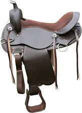 """TN Saddlery Bedford Gaited Western Leather Saddle 15"""" 16"""" 17"""" 18"""""""