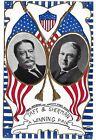 1908 Pretty Wm H Taft James S Sherman Jugate Prez Campaign Postcard Winning Pair