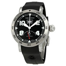 Chronoswiss Timemaster Galvanic Black Dial Automatic Mens Rubber Watch