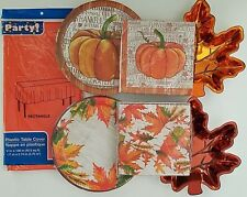 Fall Harvest Thanksgiving Luncheon Plates, Napkins, Table Covers, Select: Type