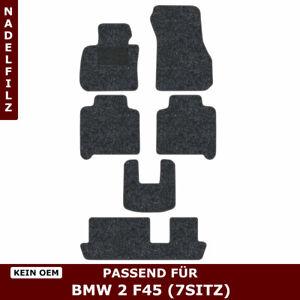 Automatten für BMW 2 F45 7sitz (ab 2013) - Anthrazit Nadelfilz 4tlg