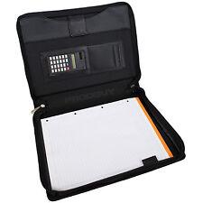 A4 comprimido Conferencia Carpeta Con Calculadora & Cojín de papel Organizador de archivos de viaje