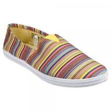 Women's Striped Textile Flat Shoes