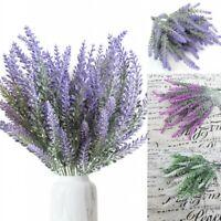 8 Bunch Artificial Bouquet Lavender Fake Flower Plastic Home Wedding Party Deco