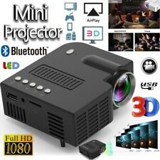 1080P Portable Mini LED Projector HD 4K 3D Video Home Theater Cinema Multimedia