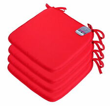 New Plain Seat Pad Tie-On Chair Foam Cushion
