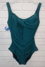 NEW SWIMSUITS FOR ALL GREEN 1 PC. SIZE 18 NWT