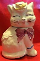 Vintage Shawnee Cookie Jar Puss 'N' Boots Cat Kitten Canister MCM Excellent EUC