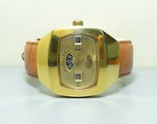 Vintage Sicura Jump Hour Date Winding Swiss Made Wrist Watch R44 Old used
