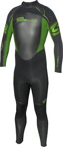 Mens Sola 'POWER' Full Wetsuit 3/2mm, Back zip Size MSM Green SALE