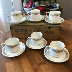 Vintage Paragon Belinda – Set 6 Tea Cups & Saucers – Great! –