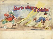 PIFFARERIO-COPERTINA rara raccolta RIDOLINI n. 1 edizioni Torelli-Tempera 1950