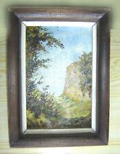 tableau Huile sur bois école Barbizon - Milieu du XIXème - 21 x 29 cm avec cadre