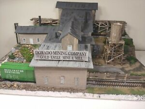 "Large HO scale ""DORADO GOLD MINE & MILL"" Diorama, scratch-built by a Craftsman"