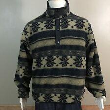 VTG Woolrich Aztec Southwest Fleece Polartec Pullover Jacket Snap Button Sz XL