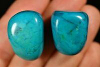 2 CHRYSOCOLLA HOWLITE TUMBLED STONES 30g Healing Crystal Blue