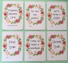 Pregnancy Milestone Cards • Memory Cards • Free UK P&P • Pregnant • Baby Shower