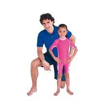 Costume Bagno Intero Bimba Elasticizzato Rosa Protezione Contro Raggi Solari