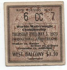 Rare 1923 Boxing Ticket from the World's Welterweight Championship Fight