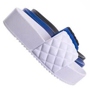 Donut19 Molded Footbed Quilted Flatform - Women Platform Flat Slide In Slipper