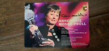 ANNEMARIE MOSER-PROLL SIGNED CARD AUSTRIA ALPINE SKIER 1980 OLYMPIC GOLD MEDAL
