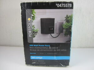 New Portfolio 200 Watt 12V Landscape Light Transformer EE3394BK Open Box