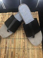 7d34dcff4b Kim Rogers Black Thong Wedge Sandals Size 8.5M
