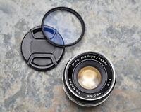 Auto Mamiya Sekor 50mm f/2 Prime Lens Caps M42 Mirrorless NEX M4/3 (#3645)